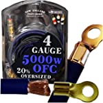 20 Foot OFC 4 Gauge Car Audio Amplifi...