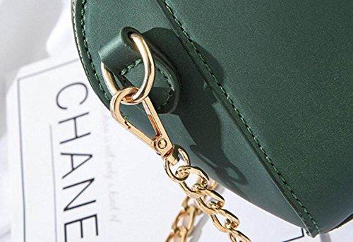 FZHLY Frühlings-Mini Damen-Tasche Einfache Shell-förmige Schulter Messenger Bag,Black