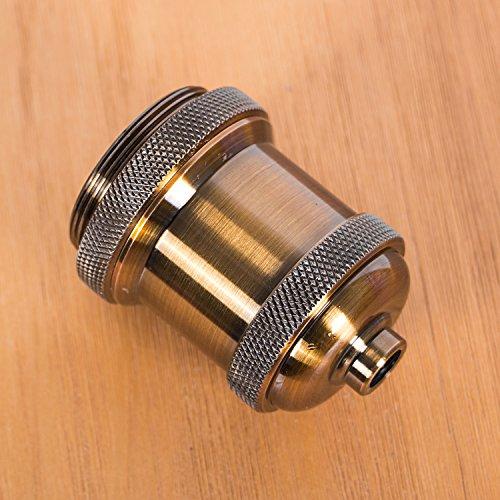 Bestmart INC Vintage Screw Metal Light Socket Keyless Lamp Holder Knob For  E26/E27 Bulb New