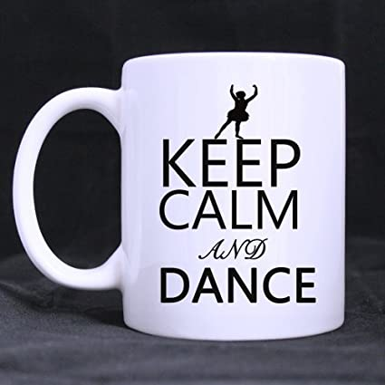 evplkigir new yearchristmas day dancers gifts inspirational saying keep calm and dance tea or