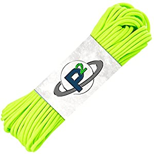 PARACORD PLANET Mil-Spec Commercial Grade 550lb Type III Nylon Paracord 10 feet Safety Green