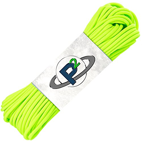 PARACORD PLANET Mil-Spec Commercial Grade 550lb Type III Nylon Paracord (Safety Green, 100 feet)