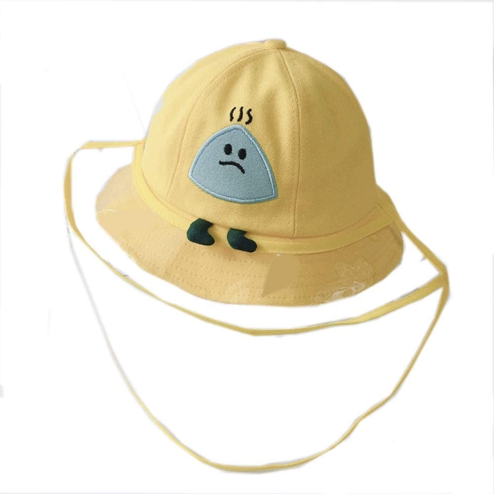 ivyacen Baby Sun Hat Summer Sun Protection Baby Boy Hats Toddler Cap for Baby Girl Kid Removable Face Mask Prevent Saliva(Rondam Color