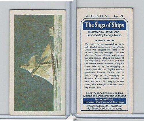 (B0-0 Brooke Bond Tea, Saga Of Ships, 1970, 21 Revenue Cutter)
