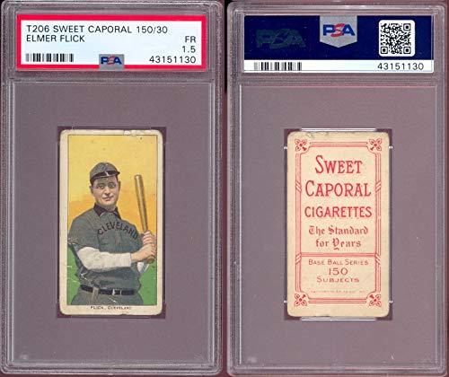 1909 t206 tobacco (baseball) card#170-psa elmer flick - psa of the Cleveland Indians Grade Fair/Poor