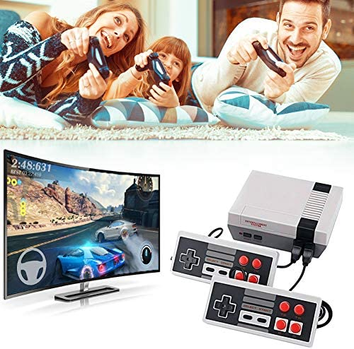 Retro Game Console, Mini Game Console Childhood Game Consoles Built-in 620 Game(Some are Repeated) Dual Control 8-Bit Handheld Game Player Console for TV Video Bring Happy Childhood Memories