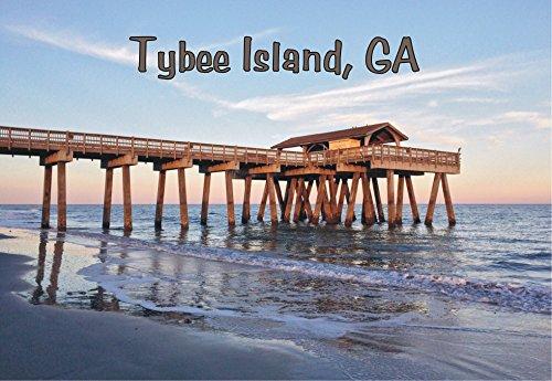 Tybee Island Pier, Tybee Island, Georgia, Beach, GA, Souvenir, Travel, Locker Magnet 2 x 3 Fridge Magnet