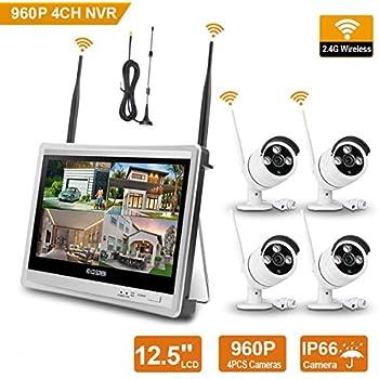 Amazon Com Wireless Home Security Camera System 12 5
