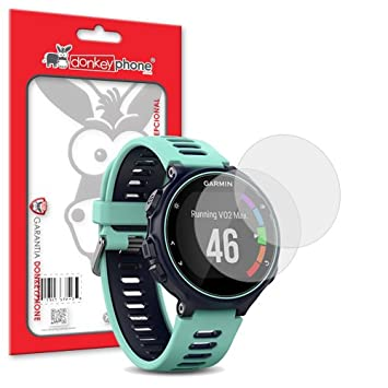 Donkeyphone - 2X Protector DE Pantalla Ultra Clear Flexible para Reloj Deportivo Garmin Forerunner 735XT: Amazon.es: Electrónica