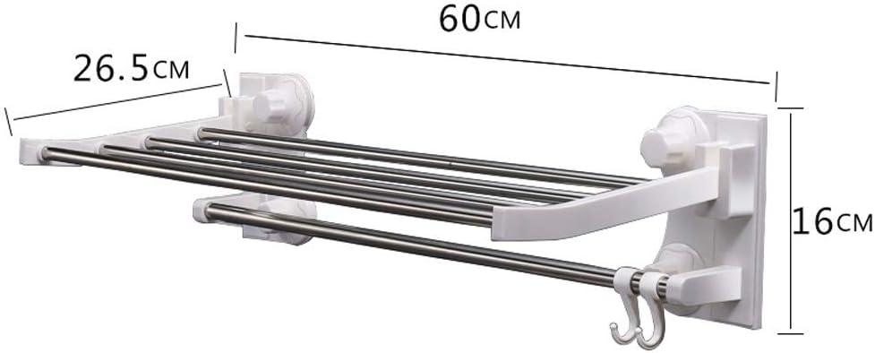 BEDKING Libre de Perforaciones Montaje en Pared a Prueba de Agua Estante de Almacenamiento Transparente Sin Rastro Ventosa Toalla Adhesiva Estante Flotante Organizador Estante Ba/ño Rack
