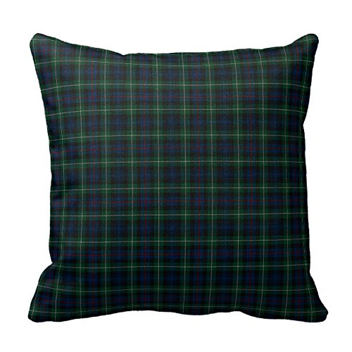 Romantichouse Cotton Linen Square Decorative Clan Mackenzie Tartan Pillowcases (Tartan Clan Mackenzie)
