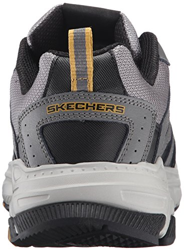 Skechers Sport Herren Stamina PlusRappel Oxford Sneaker, Grau / Schwarz