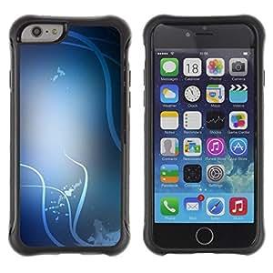 Suave TPU GEL Carcasa Funda Silicona Blando Estuche Caso de protección (para) Apple Iphone 6 / CECELL Phone case / / White Lines Birds Abstract Clean /