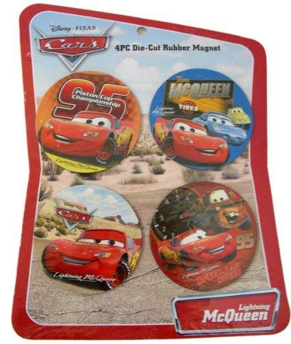 Disney Cars 4 Pc Die-Cut Rubber Magnet Set