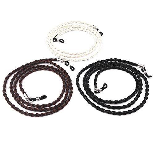 Eyeglass Holder - 3pcs Kalevel Sunglasses Holder Eyeglasses Strap Holder - Braided Chain Bead