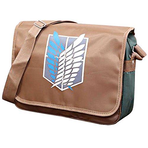 FOCUS-COSTUME Attack On Titan Levi Jiyuu No Tsubasa Shoulder Laptop Bag