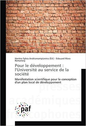 9f200c3b27b1 Pour le développement : l'Université au service de la société ...