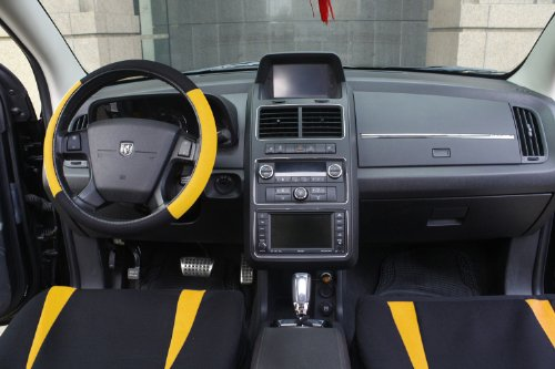 OxGord 17pc Black Amp Yellow Flat Cloth Seat Cover Set For