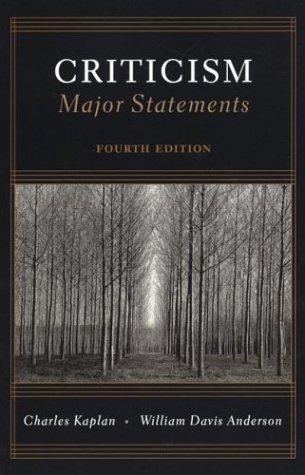 Criticism: Major Statements, 4th Edition