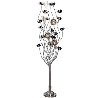 Métal De Créatif D'usine Mobilier Lampe En Vase Sol Argenté Gris H9DIE2eWYb
