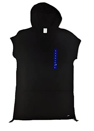 3cdb6b1b467e6 New Speedo Ladies' Hooded Swim Cover Up With Adjustable Length. Black.  Small.