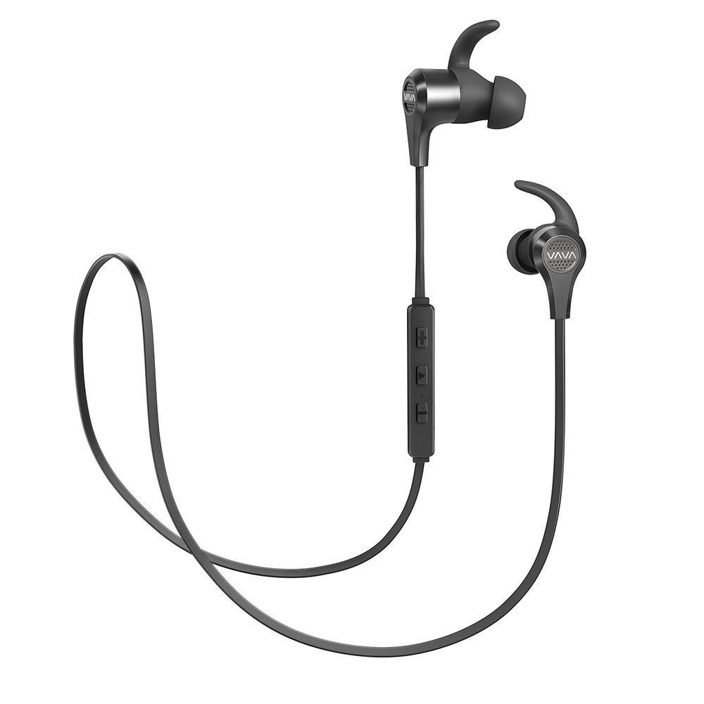 Bluetooth Headphones, VAVA MOOV 25 Wireless Headphones Sports Bluetooth Earphones with 9 Hour Battery, aptX High Fidelity Stereo Earbuds, IPX6 SplashProof, cVc 6.0 Noise Cancelling Microphone