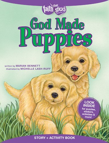 Price comparison product image God Made Puppies Story + Activity Book (Faith That Sticks Books)