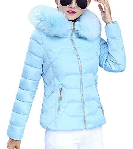 Brinny Damen Mantel Lange Winterjacke Steppjacke Kunstpelz Kapuzen Parka  Lang Wintermantel Übergansjacke Mantel Jacke Fellkapuze Warmen