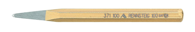 100 mm Rennsteig 371 100 0 Burin de carreleur pointu polie Or