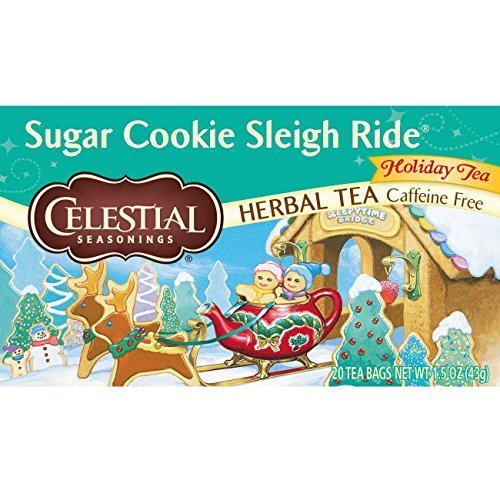 Celestial Seasonings Sugar Cookie Sleigh Ride Tea Bags, 20 ()