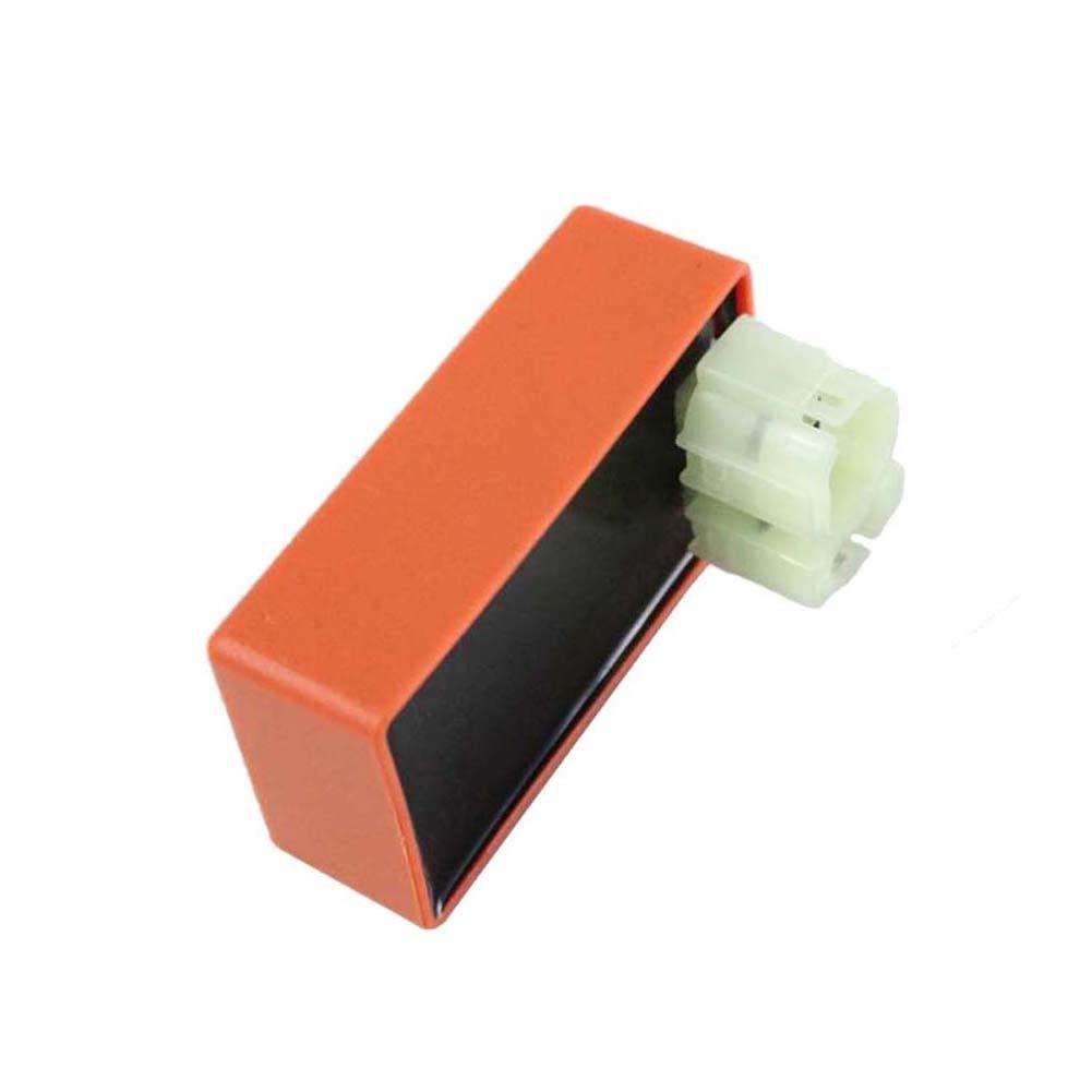 Cozy - Pack de caja de CDI de competición de 6 pines + bobina de encendido + bujía de 3 electrodos para minimotos de cross, ciclomotores y escúteres de 50 ...