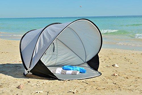 & SunHut Instant Pop Up Portable Cabana Beach Tent and Sun Shelter