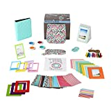 Fujifilm Instax Mini 9 Camera Accessories Bundle, 14 PC Mint Design Kit Includes: Instax Case with Strap, 2 Albums, Color Filters, Selfie lens, Magnets + Hanging + Creative Frames, stickers, Gift Box