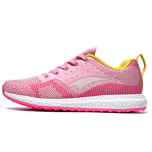 859359f1ef04ae hot sale Women s running knit shoes fashion breathe training sport weave  sneaker