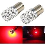 Carr Lighting Super Bright 3014 72-SMD BA15S 1156 1073 7506 Red LED Bulb for Brake Tail Turn Signal Light