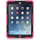 Apple iPad Air Griffin Survivor Case, Pink/Black (GB36402)