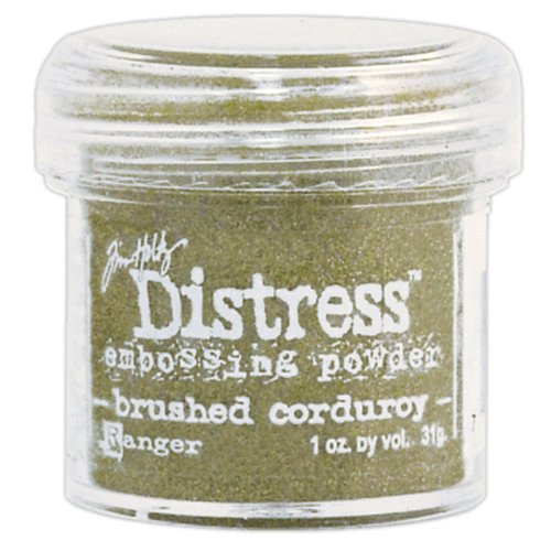 Ranger TIM-22862 Tim Holtz Distress Embossing Powder, Brushed Corduroy, (Tim Holtz Embossing Powder)