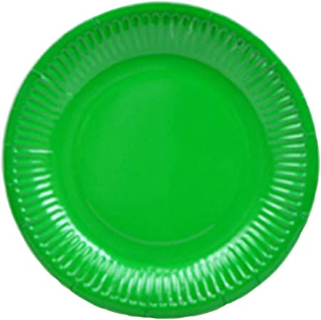 yyuezhi 40 Bandeja de Papel de Color Sólido Disco Desechable Bandeja Redonda Cumpleaños Redondo Accesorios para Banquetes de Bodas para Barbacoa Ideal para Galletas de Queso Frutas y Pasteles