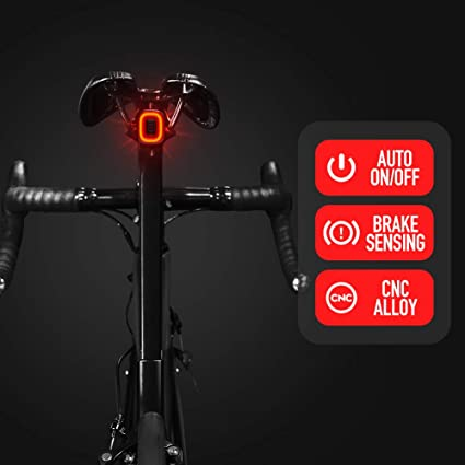 High Bright Colorful LED Bike Rear Light Signal Warn Tail Light Fast Charge Lamp