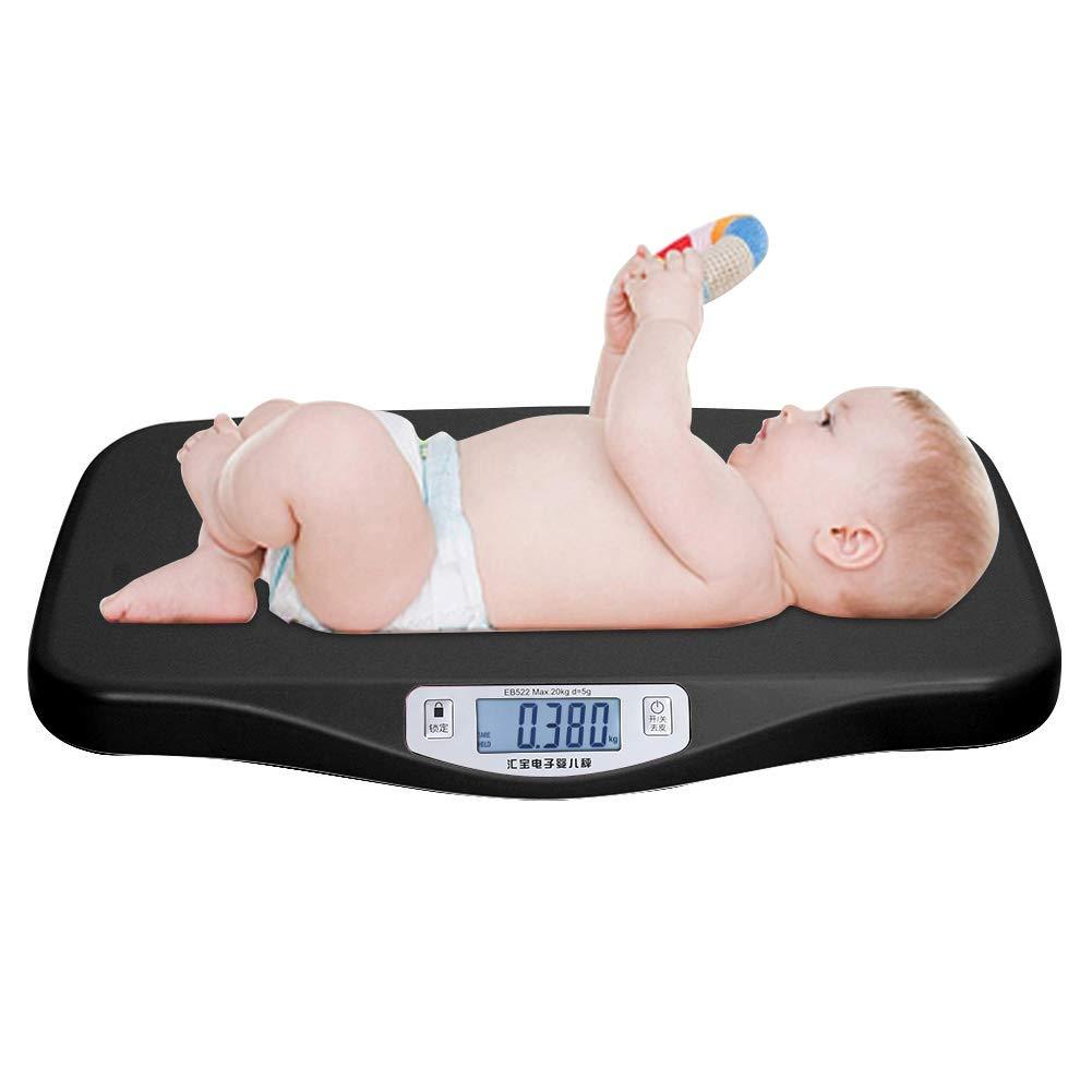 Simlug Baby Scale Electronic Baby Infant Pet Automatic Peeling Weighing Scale Large Digital Display(Black) by Simlug