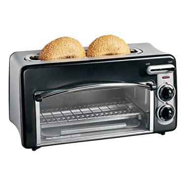 Hamilton Beach 22708 Toastation 2-Slice Toaster and Mini Oven, Black