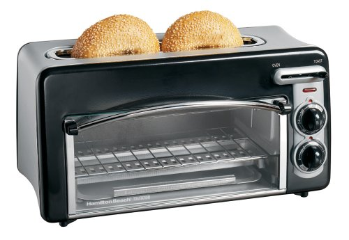 Hamilton Beach 22708 Toastation 2-Slice Toaster and Mini Oven, Black (Small Electrical Oven compare prices)