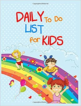 amazon com daily to do list for kids 8 5 x 11 108 lined pages