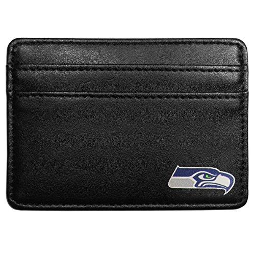 NFL Seattle Seahawks Leather Weekend Wallet, Black