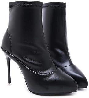 Mamrar 11Cm Stiletto Caviglia STIVALETTO Scarpe A Punta Pura Colore Vestito Stivali OL Court Shoes Cavaliere Scarpe Dimensione UE 34-40