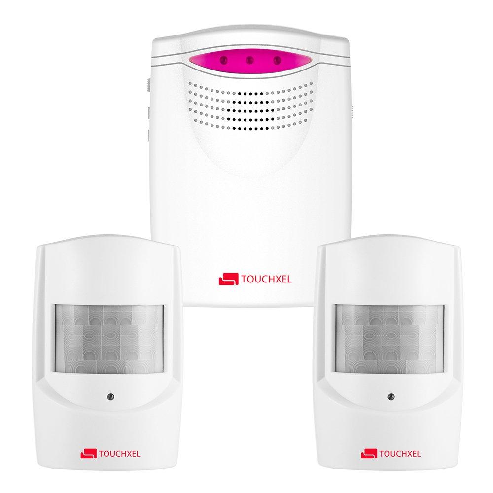 Kit de Seguridad Alarma, TOUCHXEL Sistema de Alarma Antirrobo Inalmbrico Hogar 1 Receptor y 2