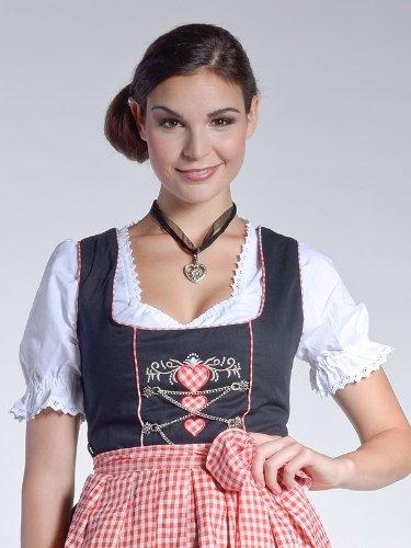 Dirndl rot 46 weiss Herzen donnerlittchen schwarz Mini 32 Lena mit TwRUIR5qW