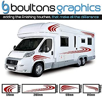 Motorhome stripes camper van horsebox caravan decals vinyl sticker graphic ss2