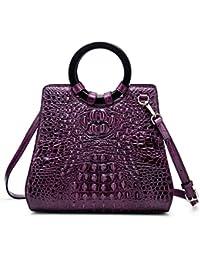 Designer Handbags for Women Crocodile Bag Genuine Leather Top Handle Bags