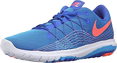 Nike Women's Flex Fury 2 Running Shoes (9 B(M) US, Racer Blue/Bright Mango-Blue Glow-White)